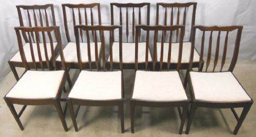 Set of Eight Georgian Style Mahogany Dining Chairs
